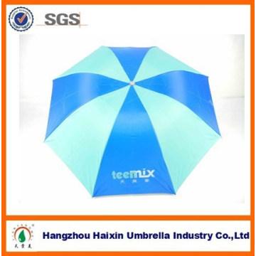 Cheap Market Advertising 3 plegable paraguas de lluvia barata con revestimiento de plata para la promoción
