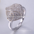 6925 silver flower ring silver ring with opal stone