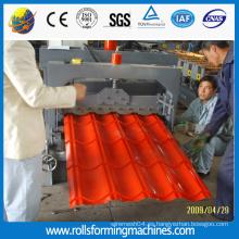 Hoja de Color tipo de azulejo esmaltado más Popular para el techo, la máquina de moldeo por