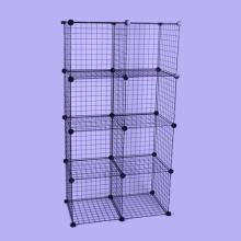Organizador de almacenamiento de material de metal, puede almacenar ropa, juguetes (FH-W0030)