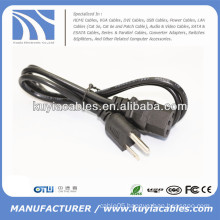 High Quality 0.75mm*mm US 3-Prong Desktop computer AC Power Cable