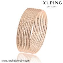 51462 brazalete de joyería de oro rosa simple moda en aleación de metal