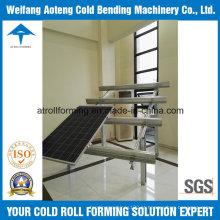 Rolo de suporte solar que dá forma à máquina