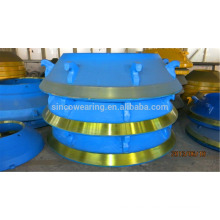 Cone crusher parts High Manganese Mn14Cr2, Mn18Cr2, Mn20Cr2, Mn22Cr2-Mantle and Cocave