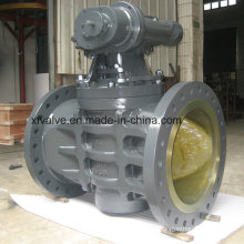 Large-Diameter Gear Operation Sleeve Type Flange Plug Valve