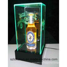 Punto caliente de la venta de la caja de exhibición de la compra, caja de acrílico del LED, caja de exhibición del vino