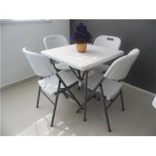 Новый складной пластиковый складной квадратный стол для наружного использования