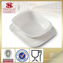 Keramik Suppenschüssel zwei Griffe mit Untertassen mischen