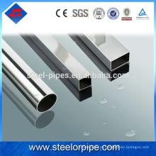 China fábrica por atacado oco tubo de aço inoxidável hexagonal