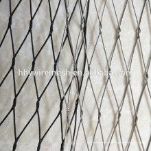 Fairer Preis hochwertige Kabel Mesh Hand weben ss304 Drahtseil Mesh Netting Zoo Mesh