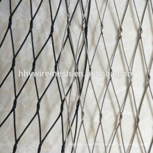 Fair price high quality cable mesh hand weave ss304 wire rope mesh netting zoo mesh