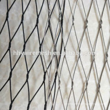 Preço justo de alta qualidade cabo de malha mão tecer ss304 corda de fio de malha rede zoo malha