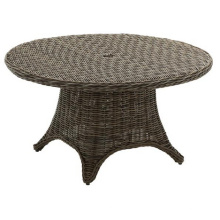 Mesa de mimbre de jardín conjunto de muebles al aire libre de la rota del patio