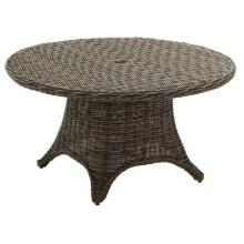 Patio en rotin, ensemble jardin mobilier d'extérieur en osier Table à manger