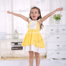 yellow cotton pinafore dress children