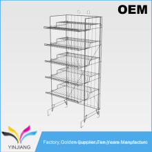 Store supply 5 tiers heavy duty price display supermarket design