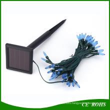 Blue Icicle Light 50 LED Solar String Light for Festival Christmas Wedding
