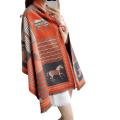 Womens Autumn Winter Thicken Printed Shawl Scarf Muffler