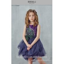 Children Girl Dress Hand Made Flower Baby Girl Party Frocks Designs Dress ED696