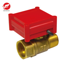 Válvula de control proporcional neumática de flujo de polvo de agua motorizada automática de agua
