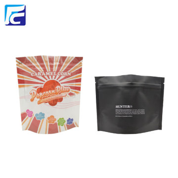 Folha de alumínio Stand Up Coffee Tea Zipper Bag