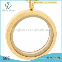 Top vendendo flutuante locket fabricantes, matt imã vidro locket, difusor lockets aço inoxidável ouro