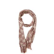 Gestrickter langer Schal mit Space Dye-Quasten für Damen