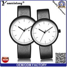Yxl-468 New Fashion Wrist Watch Japan Movt Quartz High Quality Leather Strap Couple Watch Men Women Vogue Promotion Watches