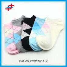 Girls Knitted Sports Socks Colorful Pattern For Bulk