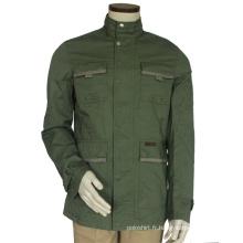 Veste softshell imperméable de Ployester Men, veste softshell bon marché sans capot