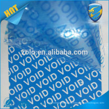 Anti-counterfeit do not accept if seal is broken security void tamper evident tape with serial number