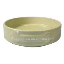 Ceramic Color-glazed Pet Feeding Bowl for Dog for BS131118B