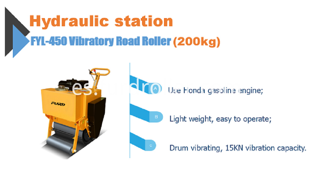 Walk behind road roller compactor