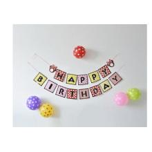 Banners alfabéticos de la fiesta de cumpleaños, pancartas colgantes creativas de la decoración de la danza