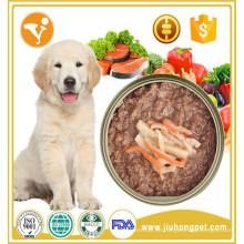 Precios competitivos alta calidad sin aditivo comida enlatada para perros
