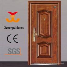 Porte d'acier de sécurité de projet de bâtiment résidentiel ISO9001