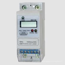 Medidor eletrônico Kwh da energia do trilho DIN da única fase