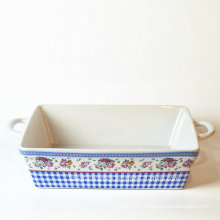 Low Price Color Glazed Ceramic Bakeware
