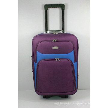 Shantung Silk EVA External Trolley Travel Luggage Suitcase