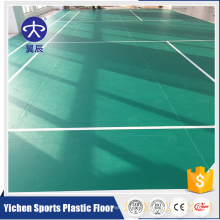 Good sale pvc flooring used badminton court/vinyl flooring plastic floor used indoor