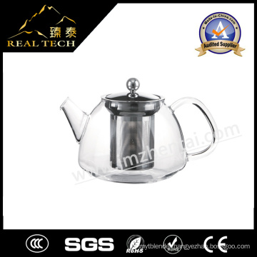 2016 Hot Sales Hand Made Heat Resistant Borosilicate Glass Teapot