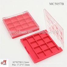 MC5057B Plastik Quadrat 12 Farben Lidschattenplastikfallgroßverkauf