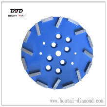 250mm concrete diamond grinding head on Radial Arm Machine