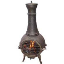 Cast Iron Cast Aluminium Chiminea (FSL019) Fire Pit