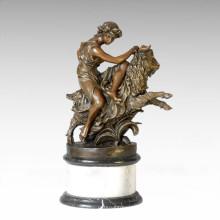 Estatua de la mitología Dionysus / Baco Escultura de bronce TPE-098