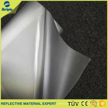 Vinilo de transferencia de calor reflectante de plata con película adhesiva de PET para ubicar la posición