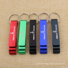 Cheapest Promotional Gifts Metal Aluminum Beer Bottle Opener Keychain with Logo