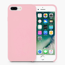 Partihandel Durable Pink Liquid Silicone Rubber Iphone8 Case