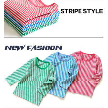 Kids Strips T Shirt / Shirts With Print , Long - Sleeved Cotton Clothes For Babies
