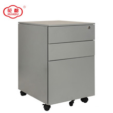 3 drawer locking metal file pedestal cabinet